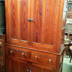 Antique Pitch Pine Wardrobe / Hanging Press Cupboard